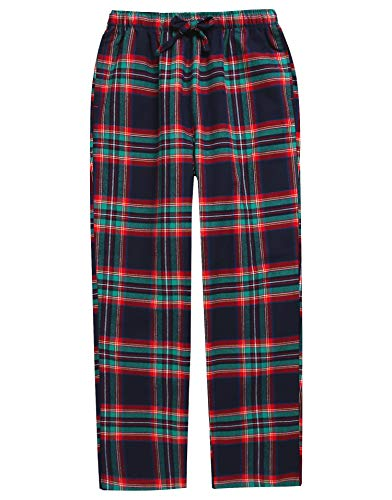 (TINFL Big Boys Soft 100% Cotton Flannel Winter Lounge Pants BLP-SB031 Rednavy XL)