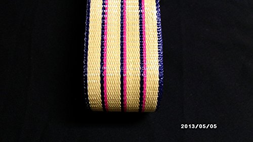 (Wellington Re-Web Kit, 2 1/4 in wide, 72 feet; TAN STRIPES with pink accent)