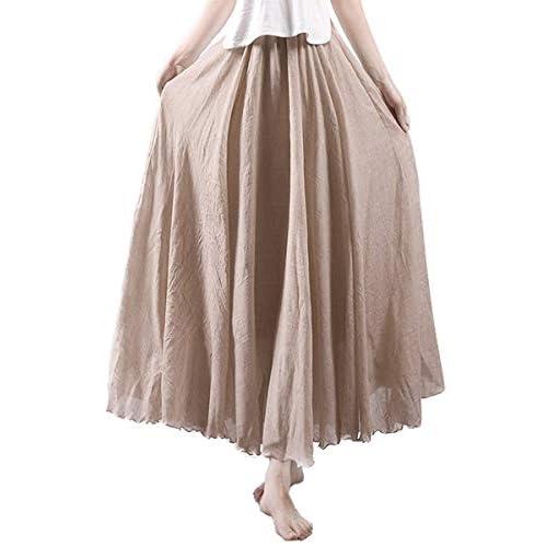 16e905d506d1 Röcke Damen Casual Young Fashion Sommerrock Baumwolle Und Leinen ...