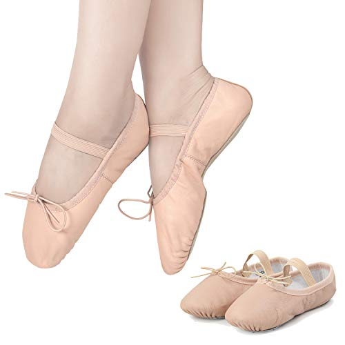 Ballet Shoes for Toddler Girls Dance Full Sole Leather Ballet Slippers – DiZiSports Store