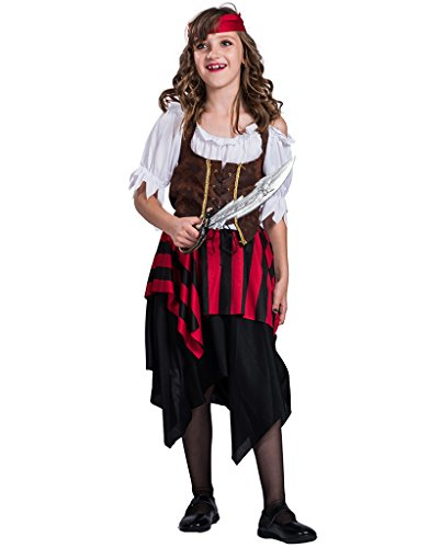 Pirates Of The Caribbean Costume Girl (EraSpooky Girl's Pirate Matey Costume(As Picture, Large))