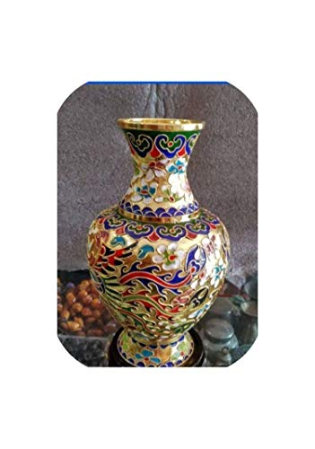 TOUCH-U vases Collecting Chinese Cloisonne Carved Dragons and Phoenixes Vase Decoration #8848