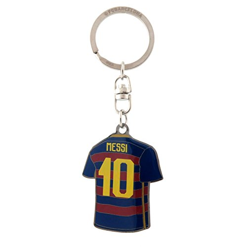 LIONEL MESSI FC BARCELONA DOUBLE SIDED METAL KEYCHAIN OFFCIALLY - Barcelona Chain Fc