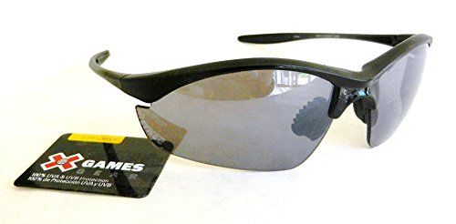 X-GAMES Mens Sport Sunglasses (1086) 100% UVA & UVB Protection-Shatter Resistant + FREE BONUS MICROSUEDE CLEANING CLOTH ()