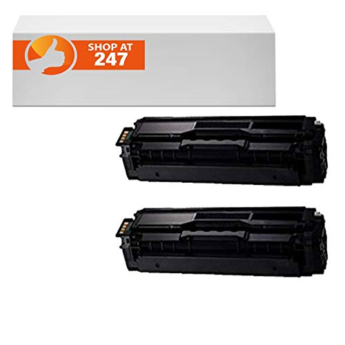 (compatible for CLT-K504S compatible 2 Pack Black toner cartridges replacement for Xpress SL-C1810W,SL-C1860FW,CLX-4195FN, CLX-4195FW, CLP-415NW color laser printers)