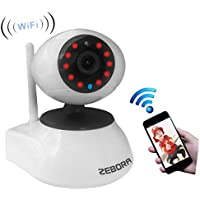 Zebora Super HD WiFi Wireless Network IP Security Surveillance Video Camera System with Pan, Tilt and Night Vision