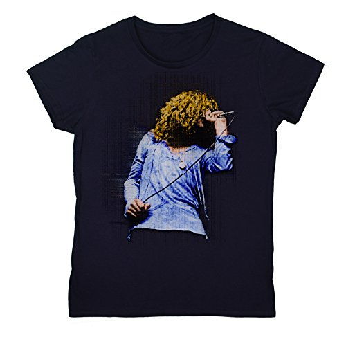 Womens Robert Plant Live British Rock Legend Fitted T-shirt NBL - Rock T-shirt Legend