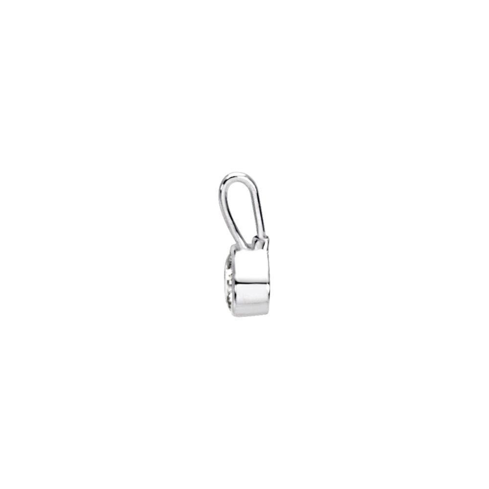 DiamondJewelryNY Sterling Silver April Birthstone 12.5x5.75mm Hook Charm//Pendant