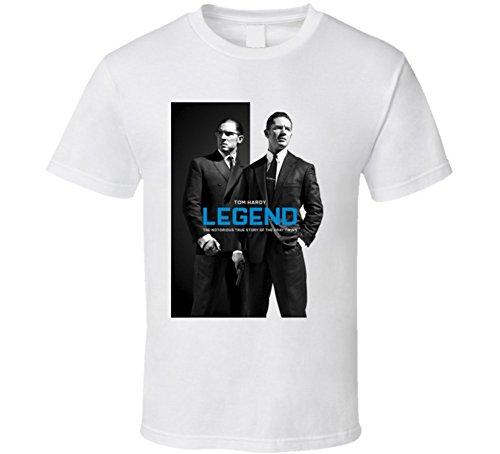 Legend Tom Hardy Popular Movie Poster T Shirt L White