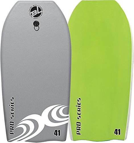 Body Boards - Professional Series Slick Bottom Body Board - Heat Sealed Body Boards (Grey/Green, 37 Inch)