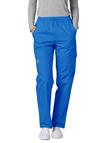 Adar Universal Natural-Rise Multipocket Cargo Tapered Leg Pants - 506 - Regal Blue - S