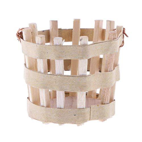 Agordo 1:12th Dollhouse Miniature Wooden Basket -