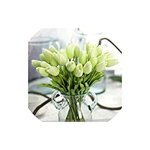 Artificial Tulips 30Pcs/Lot Tulip Artificial Pu Plastic Bouquet Real Touch Flowers for Home Wedding Decorative&Wreaths,7 3