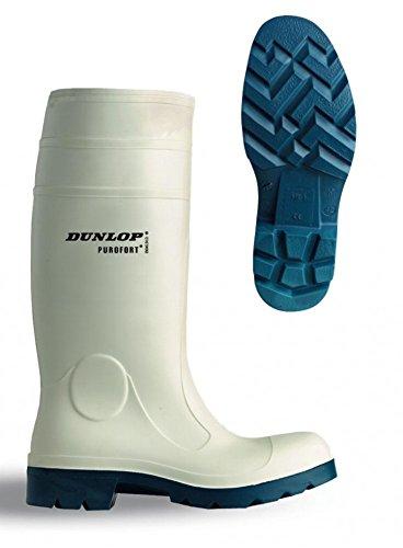 Dunlop Purofort Lady Safety mit Stahlkappe für den Lebensmittelberich EN 345-S4, Gummistiefel in weiß