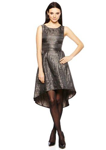 Ya Los Angeles Sleeveless Jaquard Dress, Medium, Black Combo