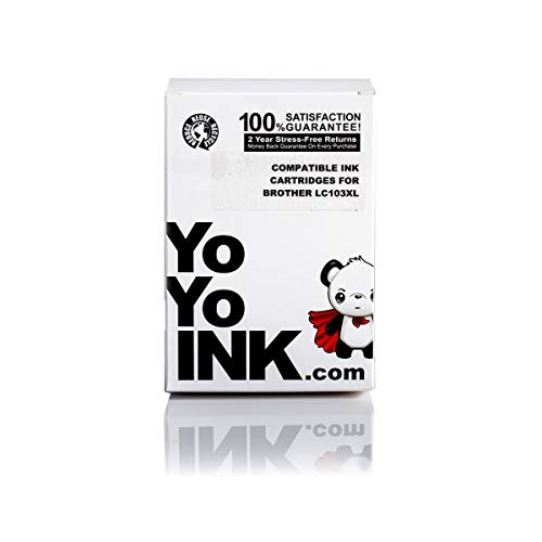 YoYoInk Compatible Ink Cartridge Replacement for Brother LC-103 XL High Yield (4 Black, 2 Cyan, 2 Magenta, 2 Yellow; 10 Pack)