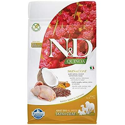 Farmina N&D Functional Quinoa Skin & Coat Quail Coconut and Turmeric Dry Dog Food 15.4 Pounds