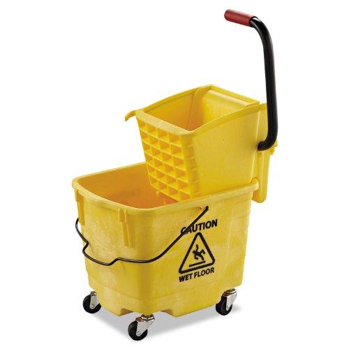 UNISAN 2635 COMBO YEL Pro-Pac Side-Squeeze Wringer/Bucket Combo, 8.75 gal, Yellow by Unisan