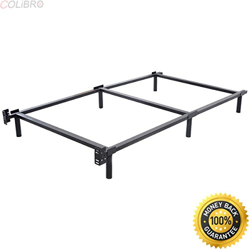 COLIBROX--Black Folding Heavy Duty Metal Bed Frame Center Support Bedroom Twin Size. metal bed frame. bedstead for sale. twin size beds. best choice products bed frame. bed frames - Beds Wal Mart Twin