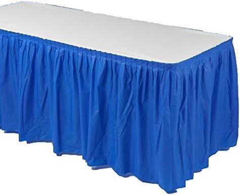 14ft Navy Blue Wedding Birthday Party Tableware Plastic Table Skirt