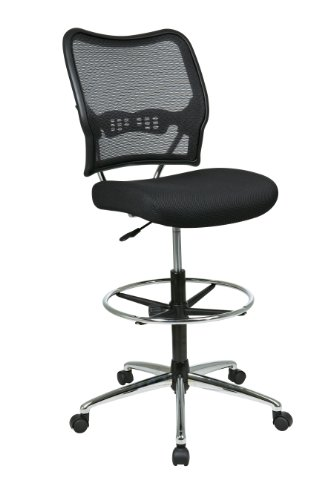 Office Star Deluxe Air Grid Back Drafting Chair by Office Star