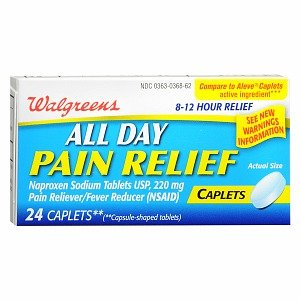Day Pain Relief Caplets - Walgreens All Day Pain Relief Caplets, 24 ea