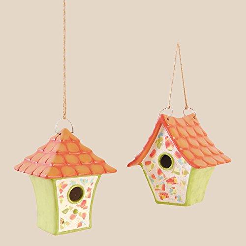 Mosaic Birdhouses - GALLERIE II Mosaic Birdhouse Christmas Xmas Ornament A/2