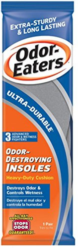 Price comparison product image Odor-Eaters Ultra-Durable Odor-Destroying Insoles,  One Size,  1 pair (Pack of 9)