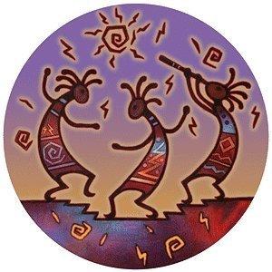 Thirstystone Stoneware Kokopelli Dance Coaster, Multicolor by Thirstystone