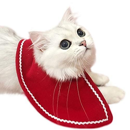 Legendog Cat Costumes Christmas Pet Costumes Red Velvet Pet Cape Pet Apparel for Small Dogs and Cats ()