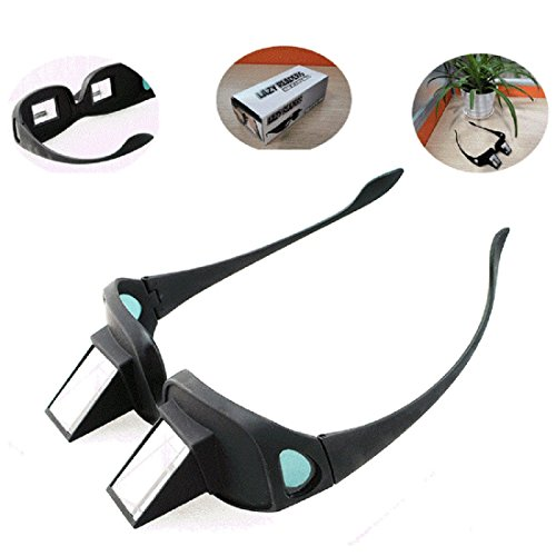 Lolicute Bed Prism Spectacles Horizontal Lazy Glasses Horizontal Glasses for Lie Down Reading and Watching TV Unisex