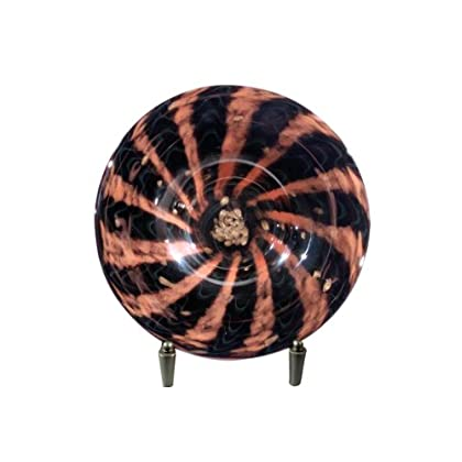 Image of Charger & Service Plates Dale Tiffany PG80166 Carmelo Decorative Charger Plate with Stand, 15-Inch Diameter