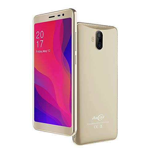 2019 New -Unlocked Smartphone, 5.5inch 18:9 Sreen Display RAM 1GB +ROM 8GB Android 8.1 Camera3G Mobile Phone Cell Phone (Gold)