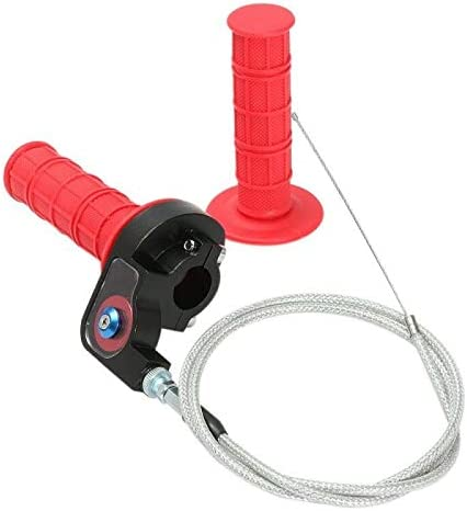 throttle line Quick Action Throttle Grip Twist /& Cable with throttle line gessing Red off-road vehicle throttle handlebar with grip