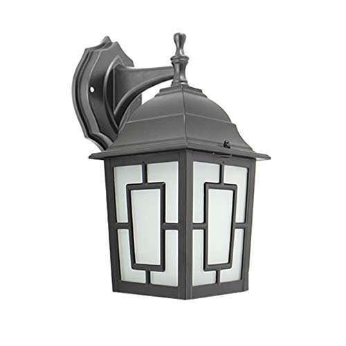 Outdoor Housing Wall - IN HOME One-Light Outdoor Wall Down Lantern, Exterior Light Fixtures with One E26 Base, Wet Rated, Black Matte Finish Cast Aluminum Housing with Frosted Glass Shade, ETL Listed
