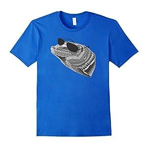 Mens Cool Lizard Drawing T-Shirt Original Funny Sunglasses Animal Medium Royal Blue