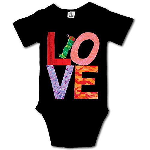 Ghhpws Love from Very Hungry with Caterpillar Baby's Unisex Short Sleeve Comfortable Bodysuit Onesie Black Size 12 Months]()