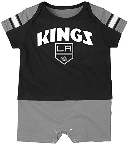 NHL Los Angeles Kings Boys Newborn & Infant 'Little Brawler' Jersey Romper, Black, 12 Months