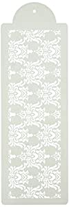 Designer Stencils C581 Filigree Damask 4 Inch Cake Stencil, Beige/semi-transparent