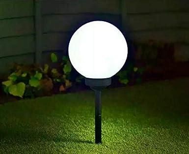Luna Globe - Estaca solar con luces LED para jardín, patio o sendero, 7 Lights: Amazon.es: Iluminación
