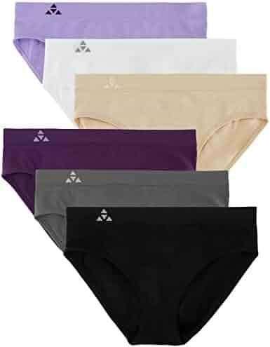 ae501df04f Balanced Tech Women s 6 Pack Seamless Hipster Brief Bikini Panties