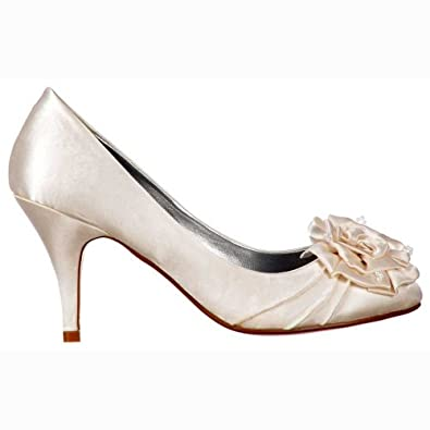 Amazon.com | Onlineshoe Women's Low Kitten Heel Wedding Shoes ...