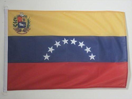 AZ FLAG Bandera Nautica de Venezuela 45x30cm Pabell/ón de conveniencia VENEZUELANA 30 x 45 cm Anillos