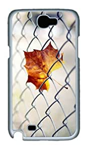 Barbed Wire Leaves Custom Designer Samsung Galaxy Note 2/Note II / N7100 Case Cover - Polycarbonate - White