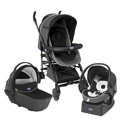 ba64759c5 Chicco Trio Living Smart - stroller, black color: Amazon.co.uk: Baby