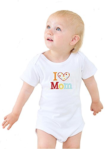 2 Pack Unisex-Baby Newborn Love Mummy Love Daddy Bodysuit,0-6 Months