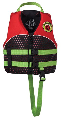 Black Kids Life Vest (Full Throttle Child 'Water Buddies' Life Vest - Lady Bug)