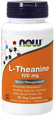 NOW L-Theanine  100 mg  90 Veg Capsules