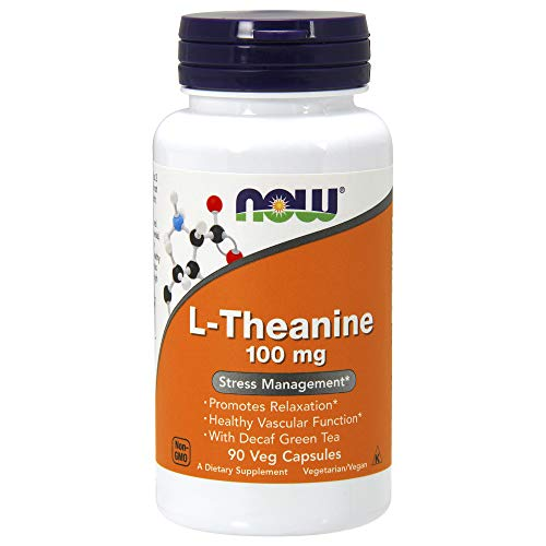 - NOW L-Theanine  100 mg  90 Veg Capsules