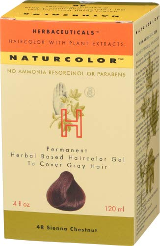 Naturcolor 4R Sienna Chestnut Hair Dyes, 4 Ounce